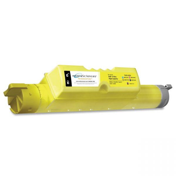 Media Sciences Remanufactured Dell 310-7895 Yellow Toner Cartridge
