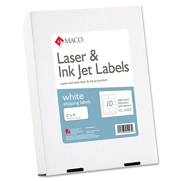 "Maco 2"" x 4"" Shipping Labels"