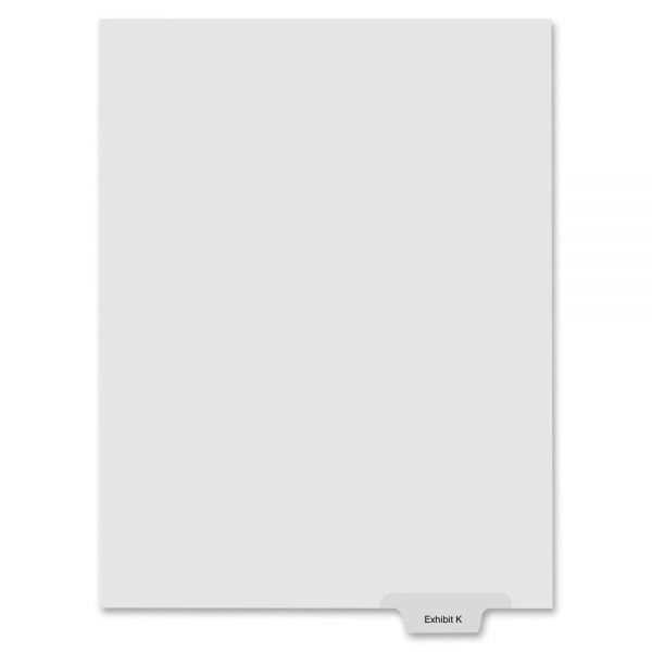 Kleer-Fax 90000 Series Bottom-Tab Legal Exhibit Index Dividers