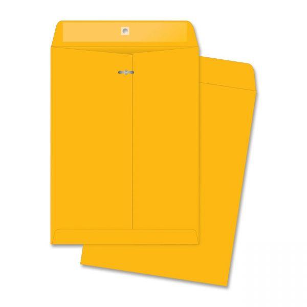 "Business Source Rugged Gummed 10"" x 13"" Clasp Envelopes"