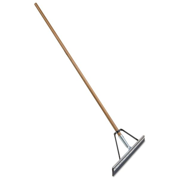 "Quickie Job Site Floor Squeegee, Wood Handle w/Steel Bracket, 24"" Blade, 60""Handle"