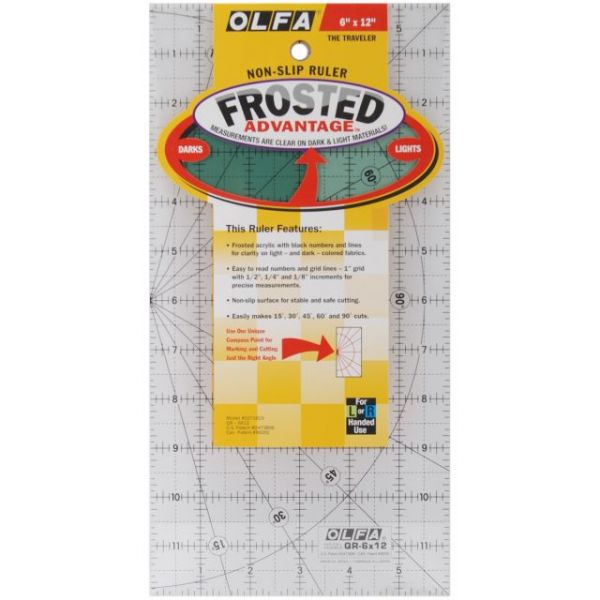 "OLFA Frosted Advantage Non-Slip Ruler ""The Traveler"""