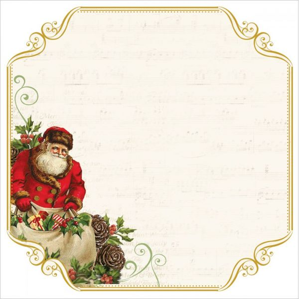 "Silent Night Foiled Cardstock 12""X12"""