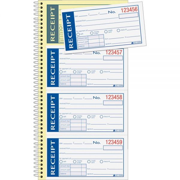 Adams Write 'N Stick 2-Part Receipt Book