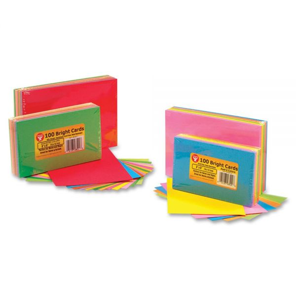 "Hygloss 3"" x 5"" Blank Bright Note Cards"