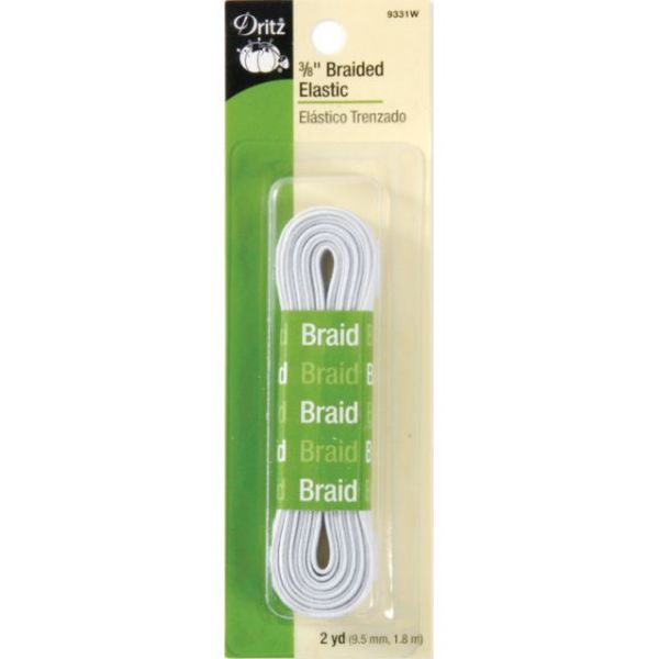 "Braided Elastic 3/8""X2yd"
