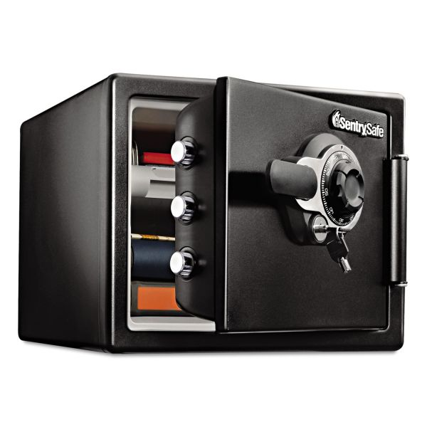 Sentry Safe Fire-Safe  0.8 Cu. Ft. Combination with Key, 16 3/8 x 19 3/8 x 13 3/4, Black