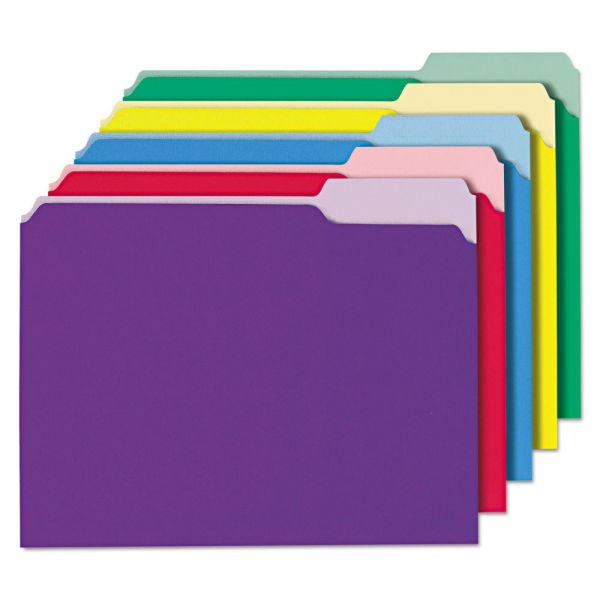 Universal Recycled Colored Interior File Folders