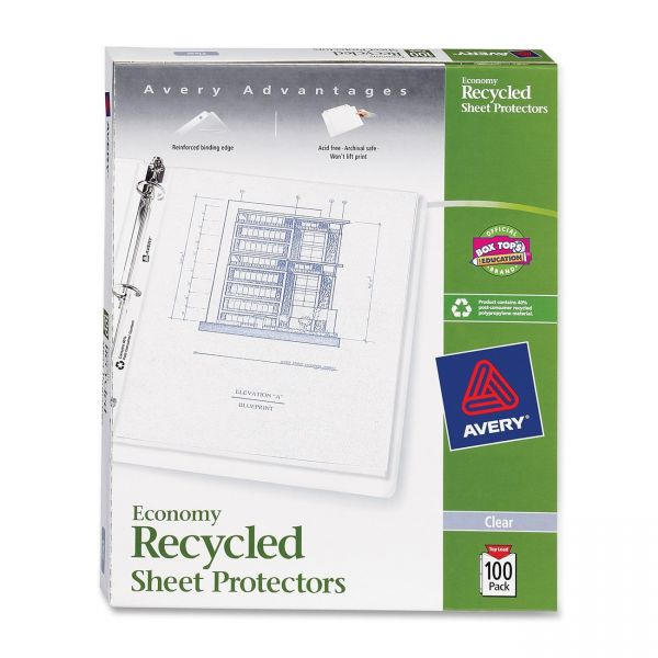Avery Recycled Top Loading Sheet Protectors