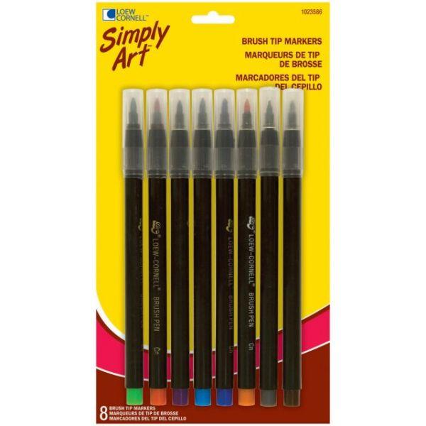 Simply Art Brush Tip Markers 8/Pkg
