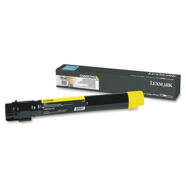 Lexmark C950X2YG Extra High Yield Yellow Toner Cartridge