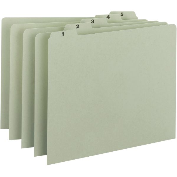 Smead 100% Recycled Pressboard Numbered File Guides
