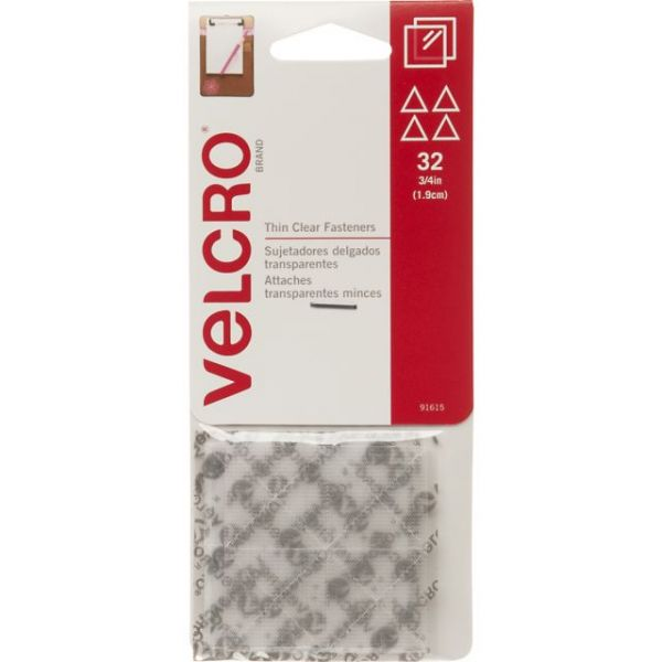 "VELCRO(R) Brand Thin Fasteners Triangles 3/4"" 32/Pkg"
