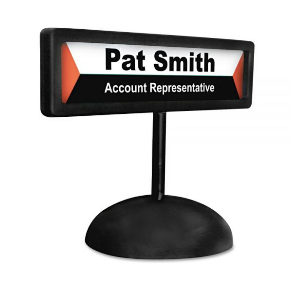 Advantus People Pointer Desktop Nameplate Sign