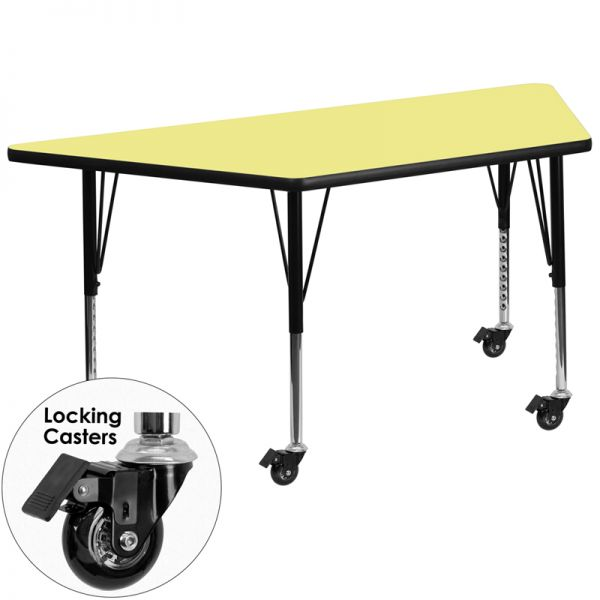 Flash Furniture Mobile Height Adjustable Trapezoid Activity Table