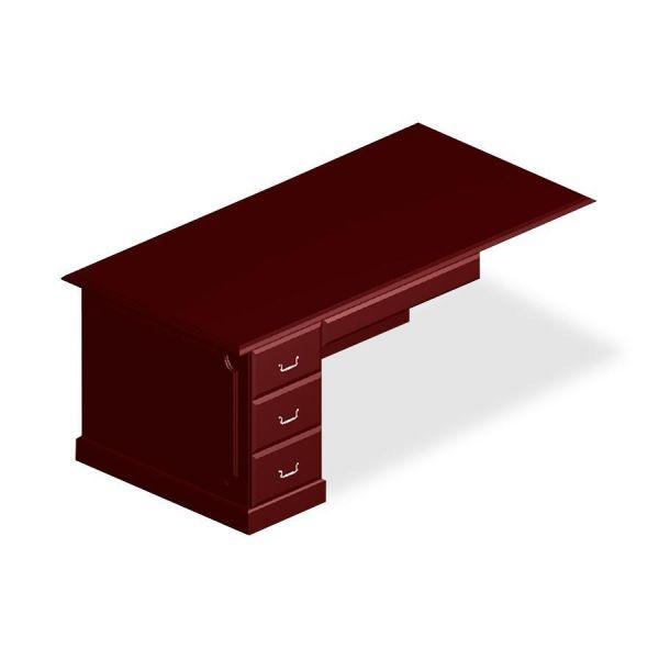 DMi Governor's Box/File Single Pedestal Desk