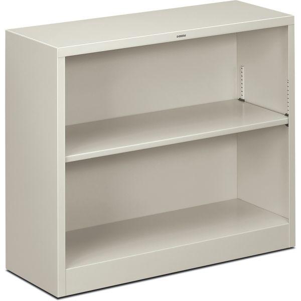 HON Brigade 2-Shelf Steel Bookcase