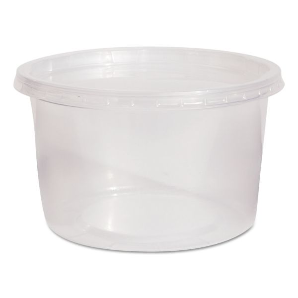 WNA Deli Containers and Lids, 16 oz, Clear, 250/Carton