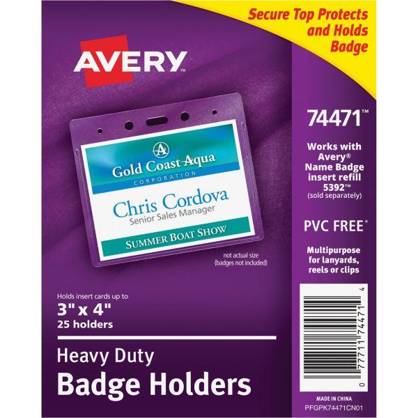 Avery Secure Top Heavy-Duty Horizontal Badge Holders