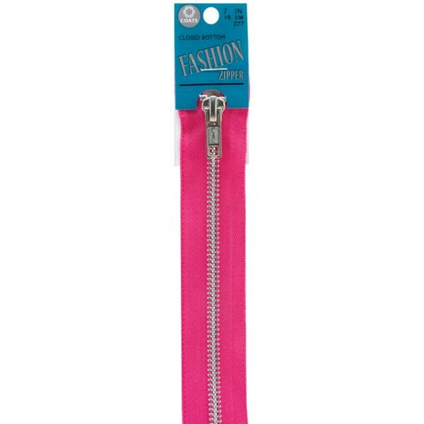 Fashion Metal Aluminum Closed Bottom Zipper 7""