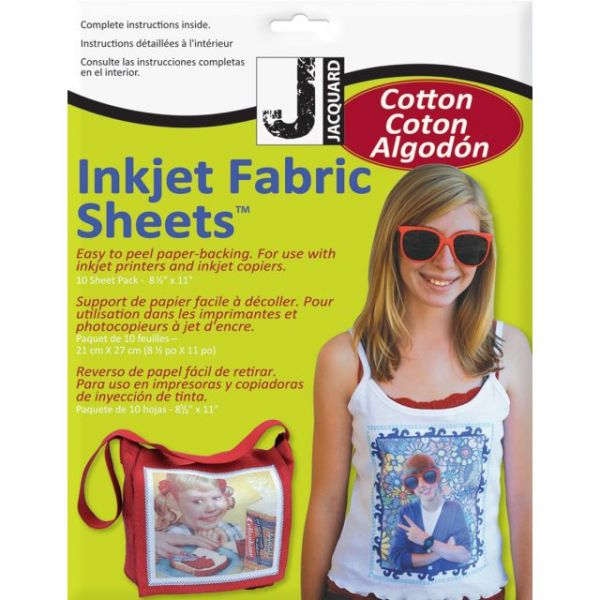 "Ink Jet Fabric Sheets 8.5""X11"" 10/Pkg"