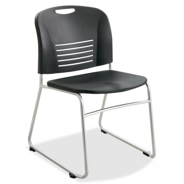 Safco Vy Sled Base Plastic Stacking Chairs