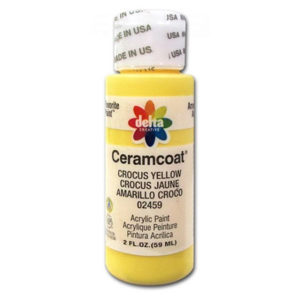 Ceramcoat Crocus Yellow Acrylic Paint