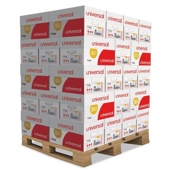 Universal Copy Paper, 92 Brightness, 20 lb, 8 1/2 x 11, White, 200000 Sheets/Pallet
