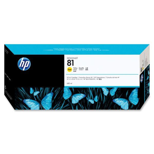 HP 81 Yellow Dye Ink Cartridge (C4933A)
