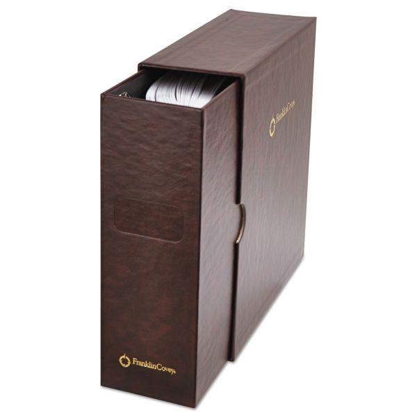 FranklinCovey Personal Organizer Classic Storage Case w/Sleeve, 5-1/2 x 8-1/2, Burgundy