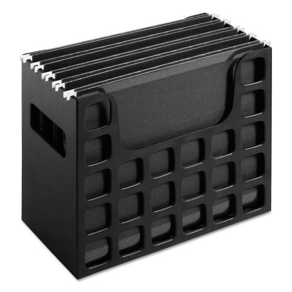 Pendaflex Desktop File w/Hanging Folders, Letter, Plastic, 12 1/4 x 6 x 9 1/2, Black