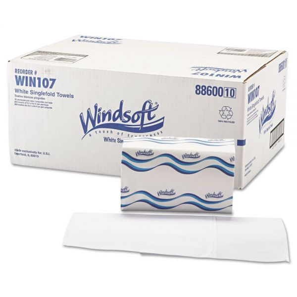Windsoft Singlefold Paper Towels