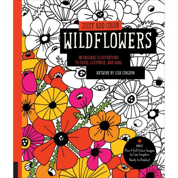 Rockport Books: Just Add Color - Wildflowers Coloring Book