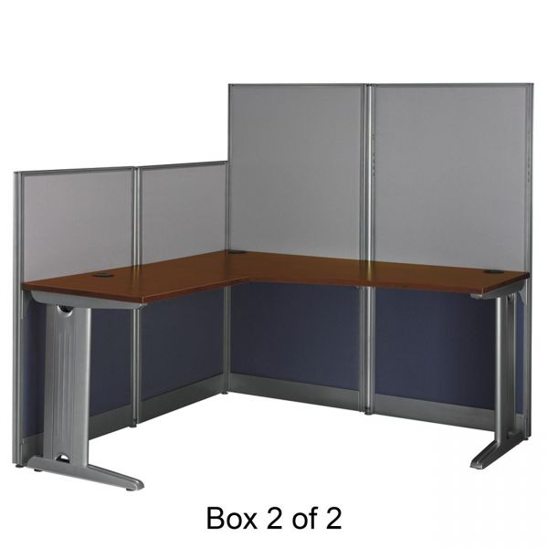 bbf Office in an Hour L-Workstation by Bush Furniture