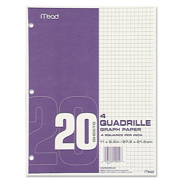 Mead Paper Filler Quad Ruled