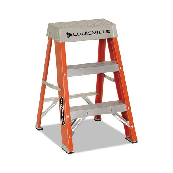 Louisville 2-Step Heavy Duty Fiberglass Step Ladder