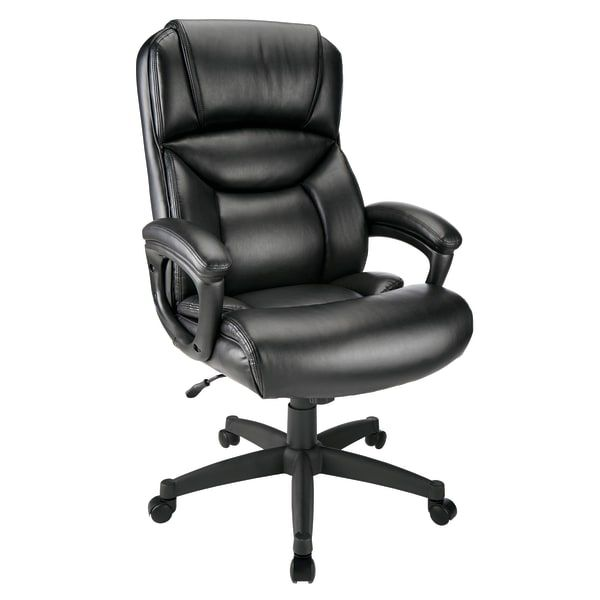 Realspace Fennington Bonded Leather High-Back Executive Chair