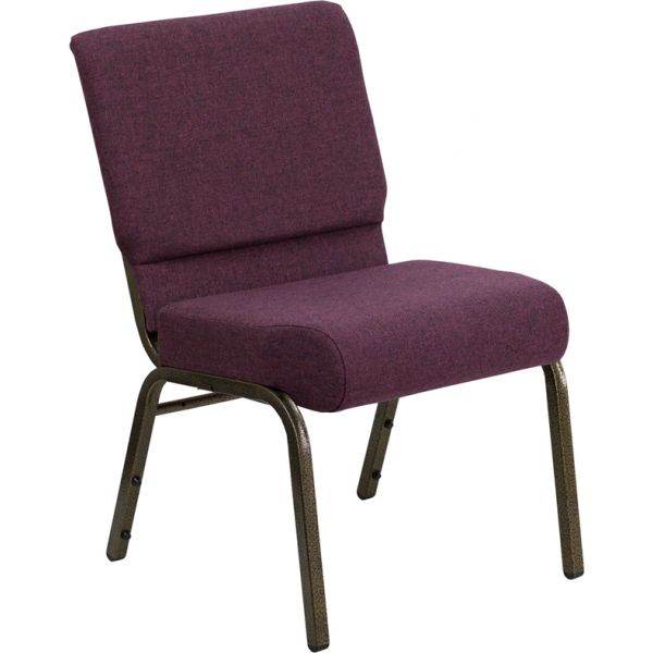 Flash Furniture Plum Fabric Big & Tall Church Chair