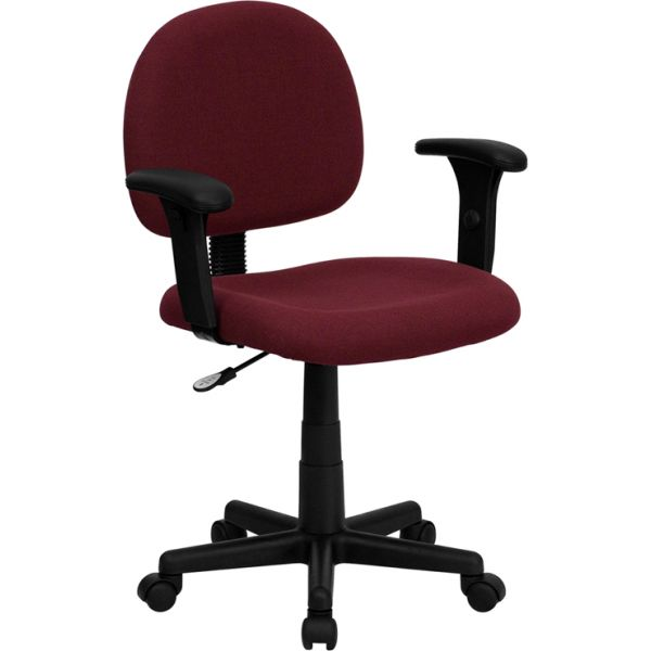 Flash Furniture Low Back Ergonomic Task Chair with Height Adjustable Arms