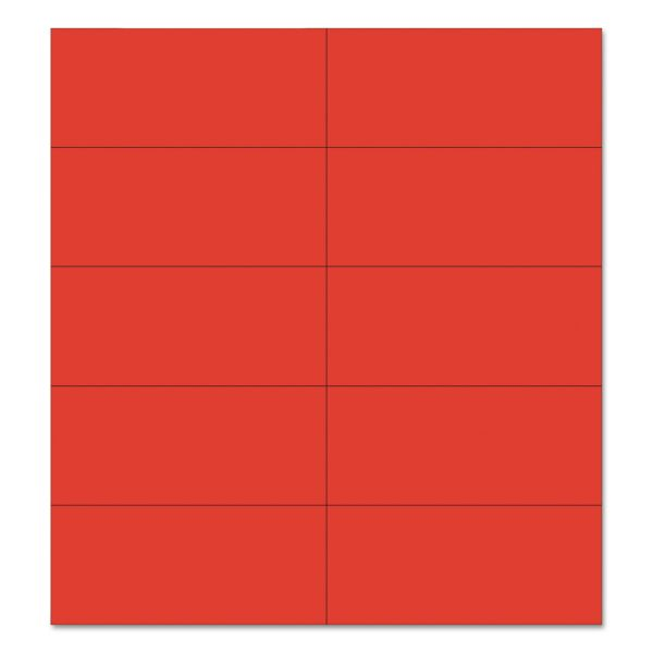 """MasterVision Dry Erase Magnetic Tape Strips, Red, 2"""" x 7/8"""", 25/Pack"""
