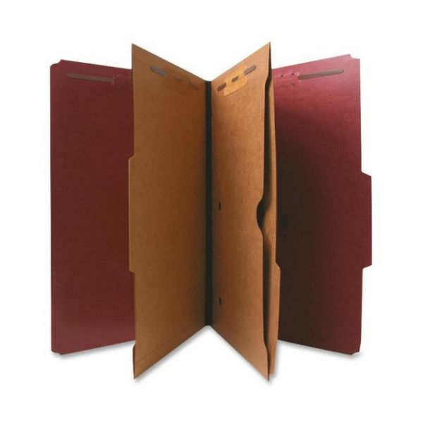 Nature Saver Pressboard Classification Folders with Pocket Dividers