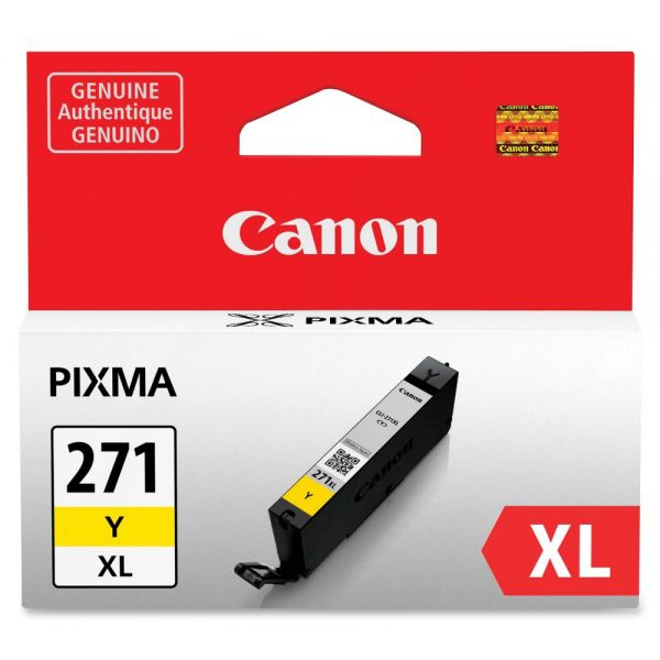 Canon CLI-271 High Yield Yellow Ink Cartridge (CLI271XLY)