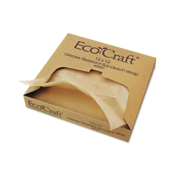 EcoCraft Grease-Resistant Basket Liner/Sandwich Wrap Paper