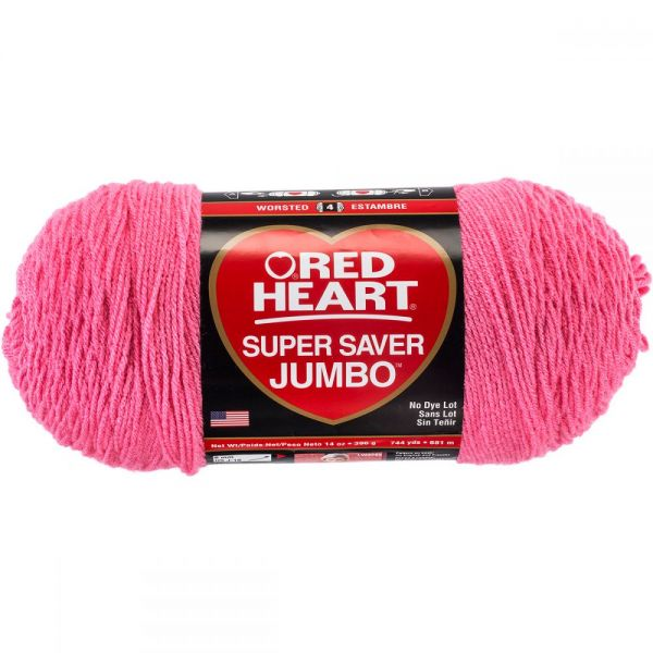 Red Heart Super Saver Yarn - Perfect Pink