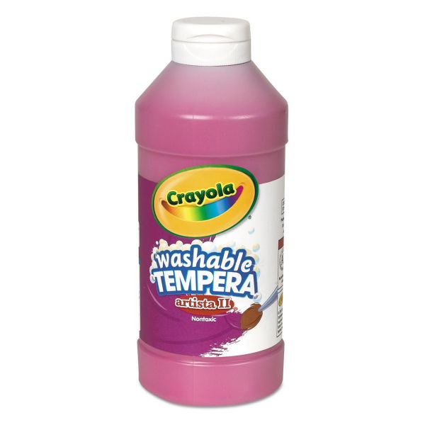 Crayola Artista II Washable Tempera Paint, Magenta, 16 oz