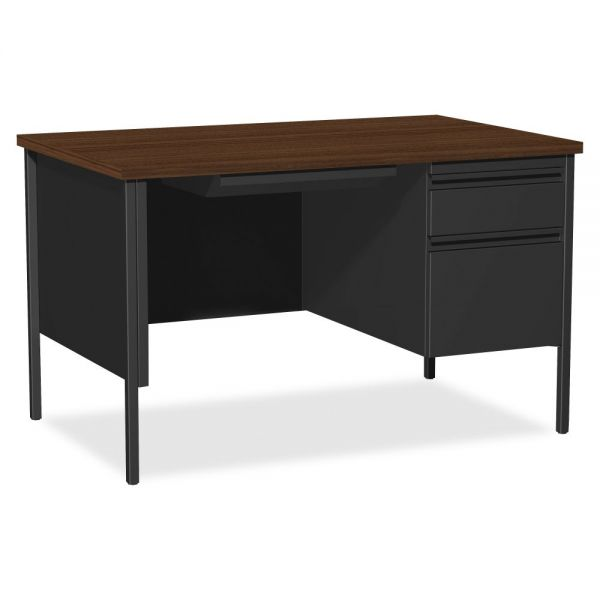 Lorell Fortress Series Right Single-Pedestal Computer Desk