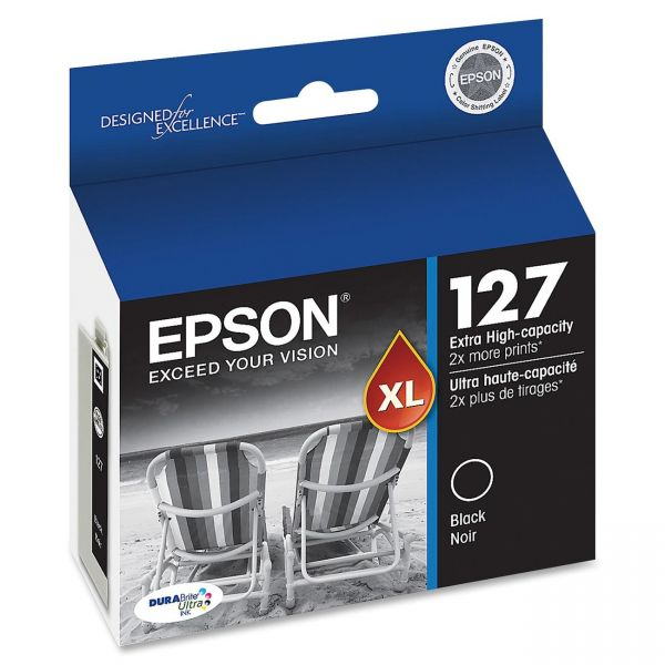 Epson 127 XL Black Extra High-Capacity Ink Cartridge (T127120)