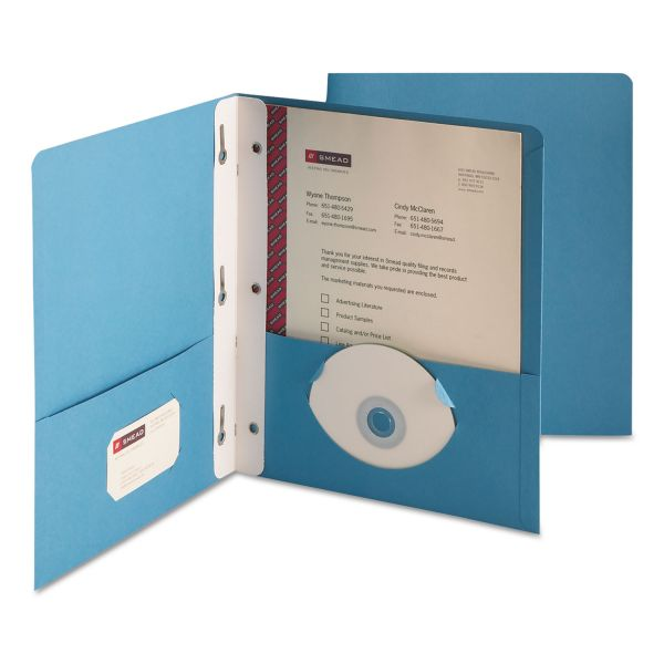Smead Heavyweight Two Pocket Folders with Tang Strip Style Fasteners