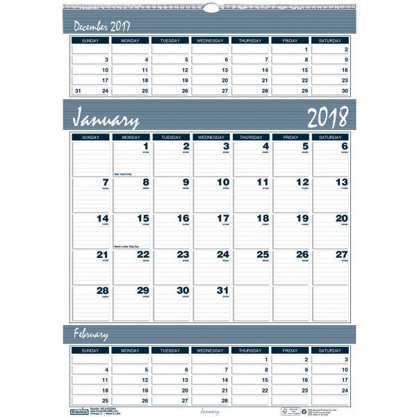 House of Doolittle Bar Harbor 3-Month Wall Calendar