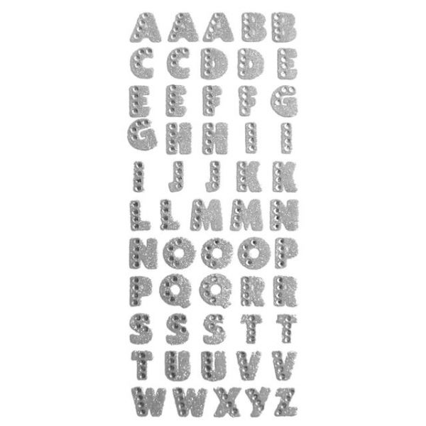Crystal Stickers Glitter Alphabet 55/Pkg